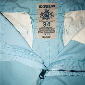 "Express-Men's casual dress shorts""Bright Sky Blue"""